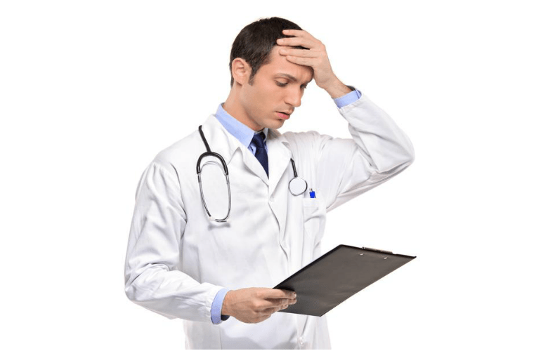 physician worried