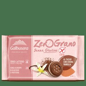 Frollini al cacao con crema vaniglia galbusera senza glutine e senza lattosio