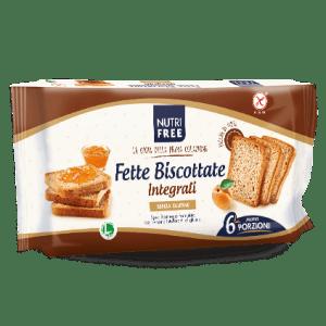 Fette biscottate integrali senza glutine e senza lattosio