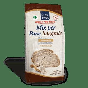 Mix per pane integrale nutrifree senza glutine e senza lattosio