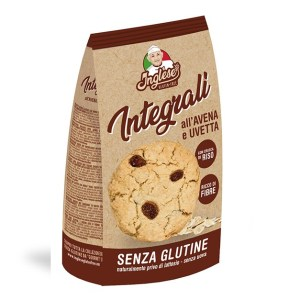 Biscotti integrali avena e uvetta Inglese senza glutine e senza lattosio