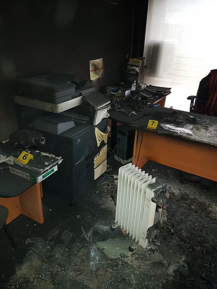 Zapaljen dio službenih prostorija općinske zgrade Općine Polača