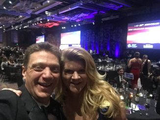 Becky and Paul at the Colorado Business Hall of Fame, my signature event with over 1000 people, I've been producing the video presentation for over 17 years