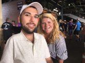 Becky with Joe Akmakjian, Muscular Dystophy's Goodwill Ambassador