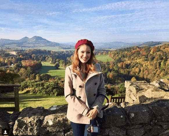 Munmun Dutta While travelling in Scotland