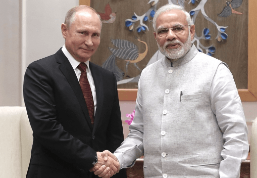 Vladimir Putin met with Prime Minister of India Narendra Modi