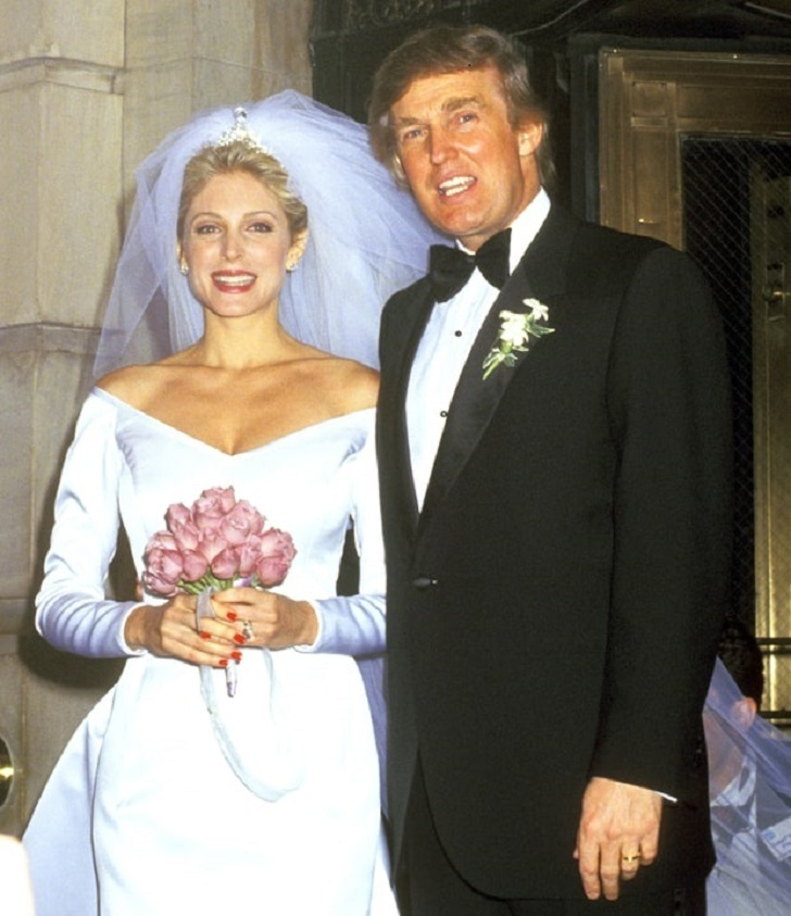 Donald Trump's and Marla Maple's Wedding Photo.