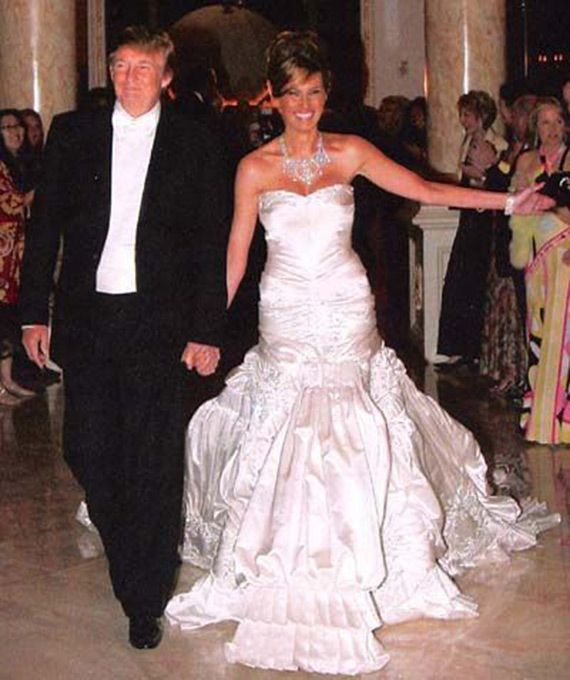 Donald and Melania wed after getting engaged in 2004.