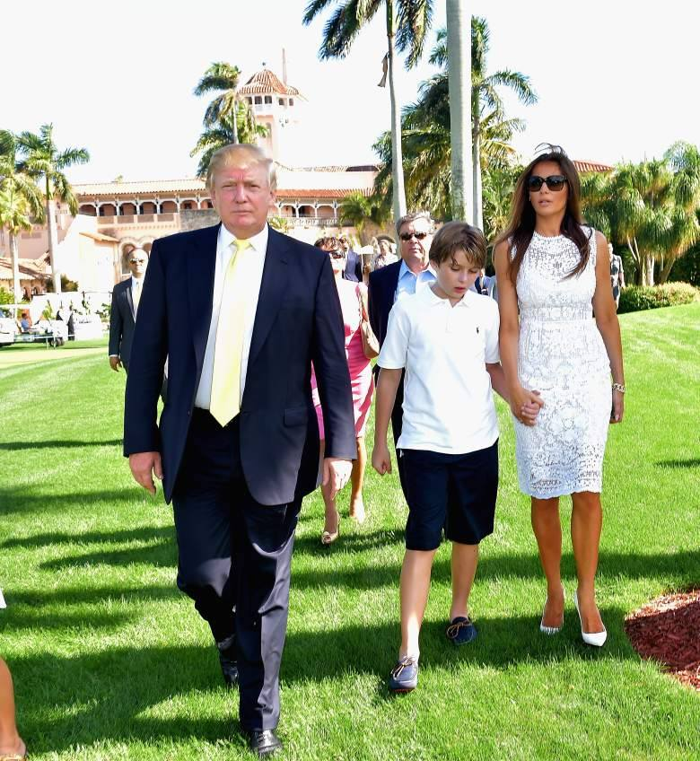 Donald Trump and now the first lady Melania Trump along with Barron Trump.