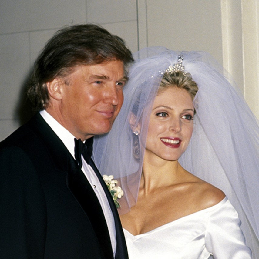 Marla Maples married Donald Trump while she was pregnant with Tiffany Trump in 1993.
