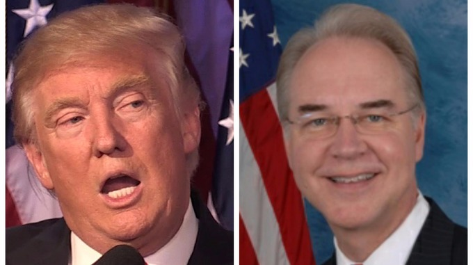 Donald Trump and Tom Price have similar opinion and views as both hail from the Republicans