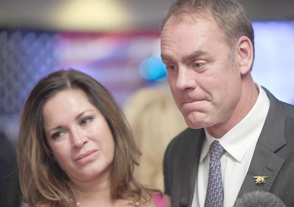 Ryan ZInke with his wife Lolita Charlotte.