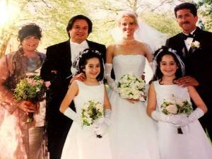 Kellyanne Conway and George T Conway on their wedding day.