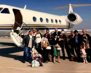 George booked a jet to celebrate his wife Kellyanne 40th birthday.