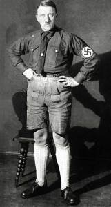 This must be the rare picture of Adolf Hitler showing little skin.