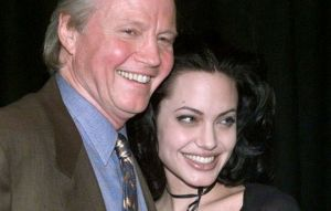 Jon Voight with his daughter Angelina Jolie.