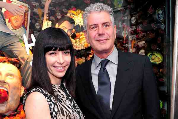 Anthony Bourdain with his second ex-wife Otavia Bussia