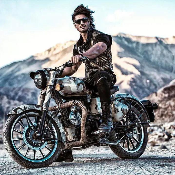 Vidyut Jamwal biking