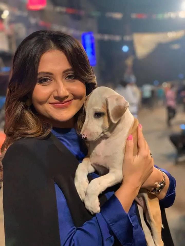 Swastika mukherjee dogs lover