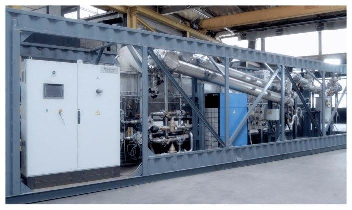 熱分解装置 Biogreen コンテナー内設置