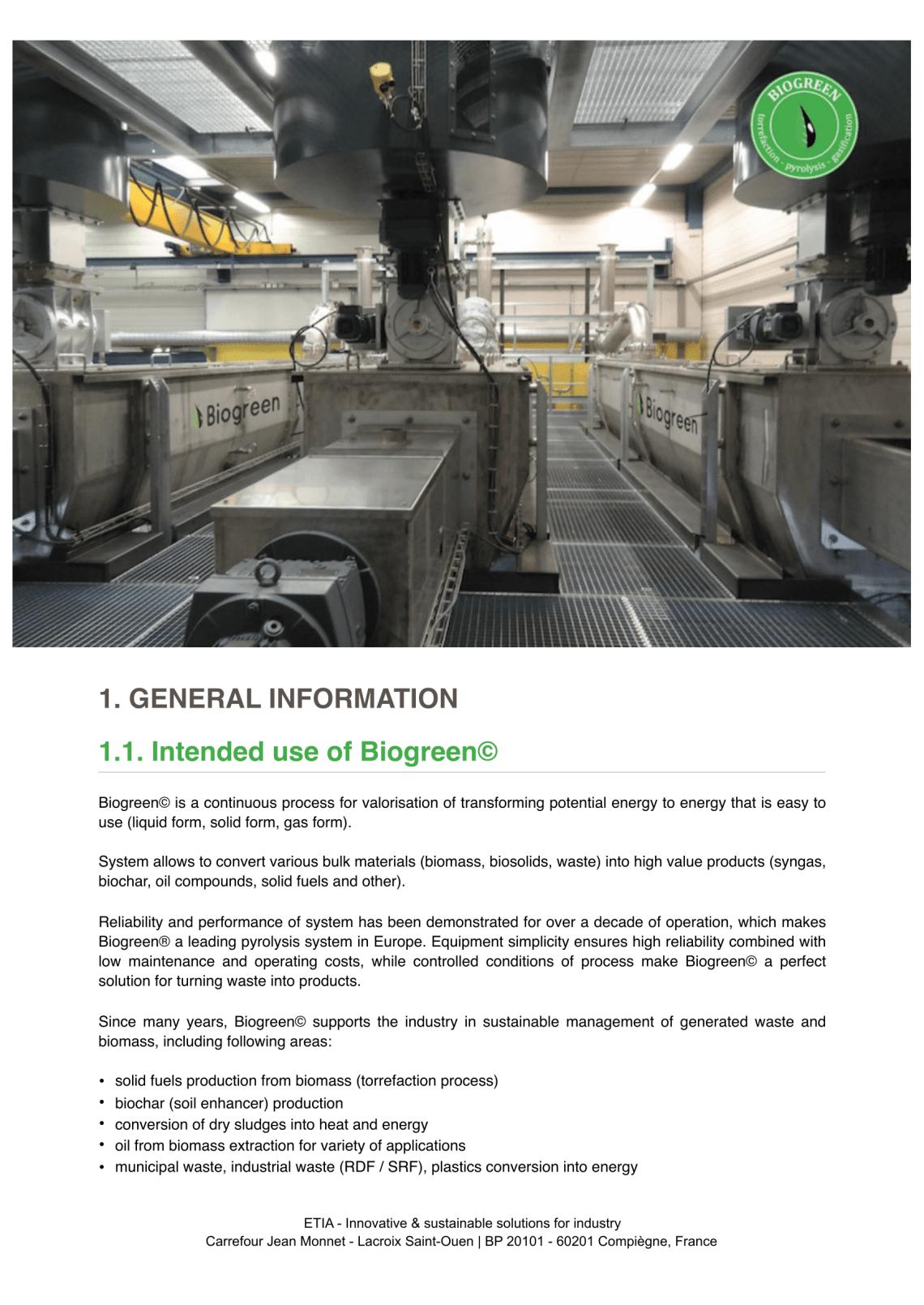 熱分解装置 biogreen 概要 利用目的 2018.1.7