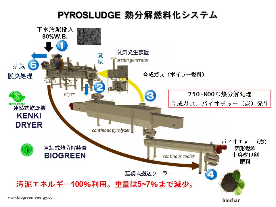 Biogreen 燃料化システム 熱分解システム ガス化 炭化 2018.3.2