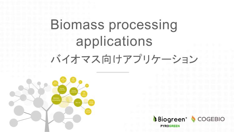 熱分解 木質バイオマス アプリケーション Biogreen COGEBIO 2018.6.16