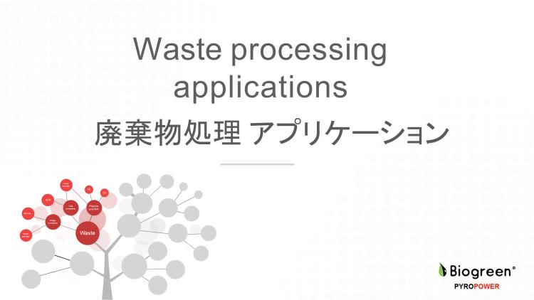 熱分解装置 Biogreen 廃棄物処置アプリケーション 2018.7.1