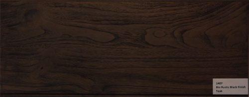 contoh hasil finishing kayu rustic black dengan bahan Biocolour water based acrylic wood coating system