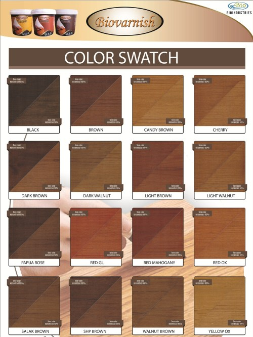 color swatch biovarnish wood stain