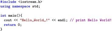 Code C++
