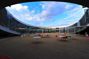 Entrée du Rolex Learning Center, bibliothèque de l'EPFL |  Christoph Koch
