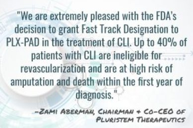 Zami Aberman, Pluristem Therapeutics - FDA Fast Track Designation