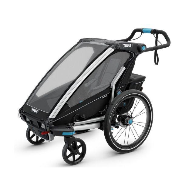 Thule Chariot Sport crna dječja kolica za jedno dijete