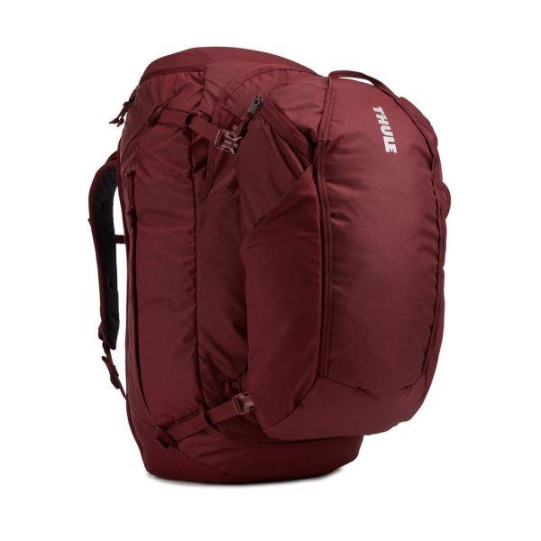 Putni ruksak ženski 2u1 Thule Landmark 70L crveni