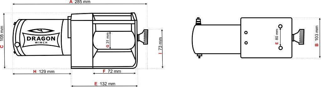 Vitlo Dragon Maverick DWM 2500 ST, 12V, 1.133kg sa sajlom, vodilicom, žičnim i bežičnim daljinskim