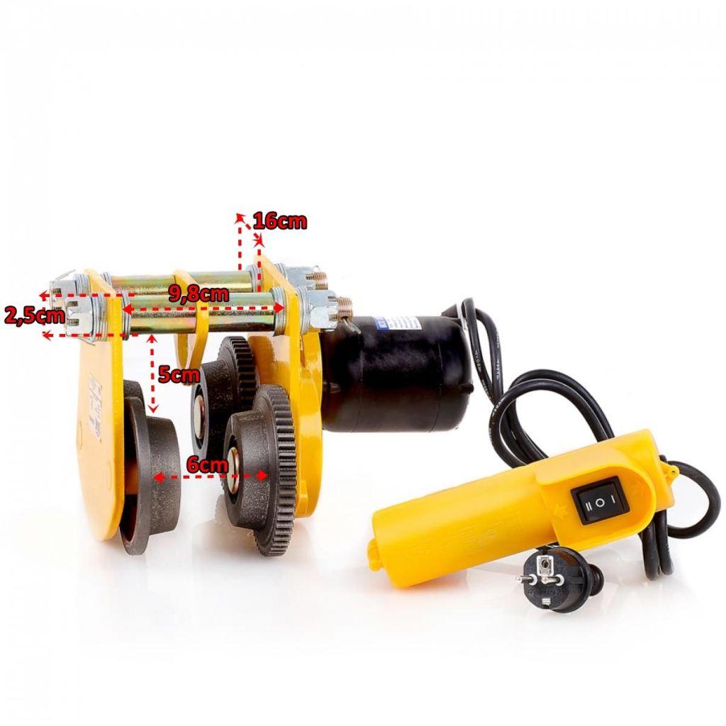 Dragon električna pokretna kolica (mačka) za električne dizalice (kranove) DWI 1 T, 230 V