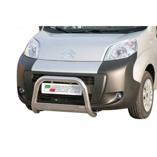 Misutonida Bull Bar Ø63mm inox srebrni za Citroën Nemo 2007+ s EU certifikatom