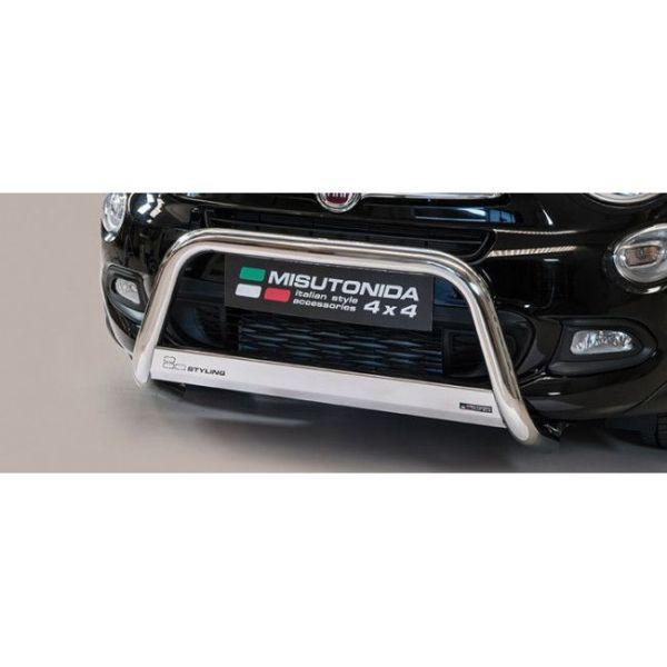 Misutonida Bull Bar Ø63mm inox srebrni za Fiat 500 X 2015 s EU certifikatom