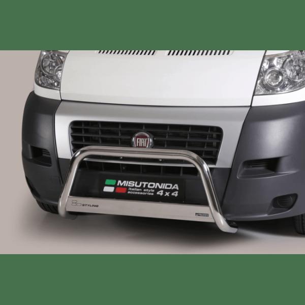 Misutonida Bull Bar Ø63mm inox srebrni za Fiat Ducato SWB MWB 2006-2013 s EU certifikatom