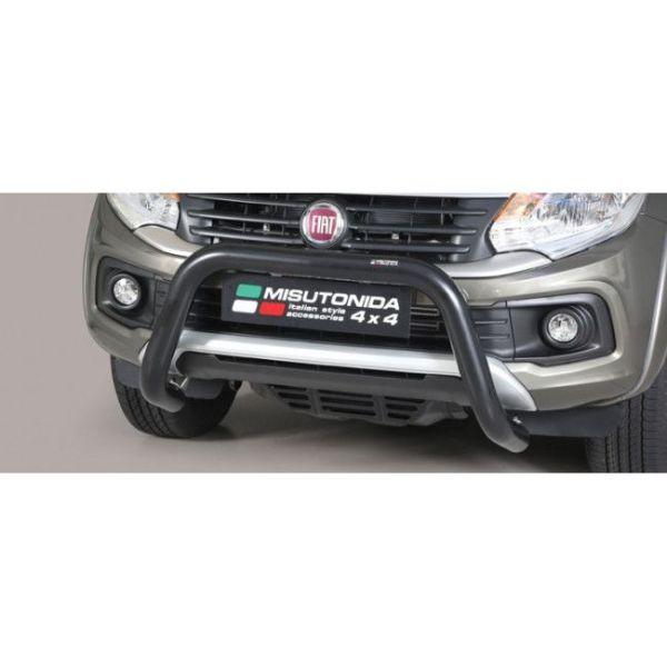 Misutonida Bull Bar Ø76mm inox crni za Fiat Fullback D.C./Extended cab SX 2016 s EU certifikatom