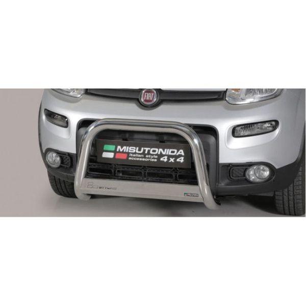 Misutonida Bull Bar Ø63mm inox srebrni za Fiat Panda/Panda 4x4 2013+ s EU certifikatom