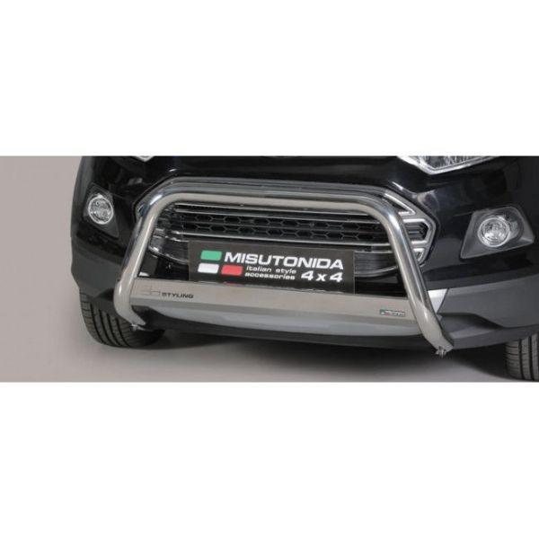 Misutonida Bull Bar Ø63mm inox srebrni za Ford Ecosport 2014-2017 s EU certifikatom