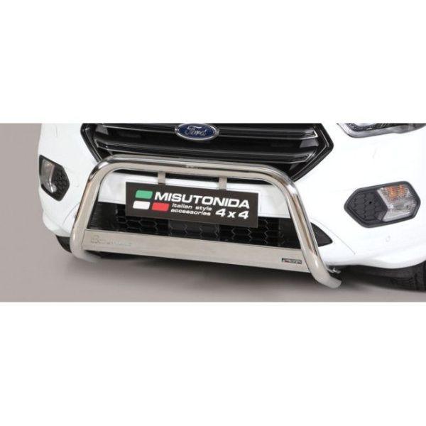 Misutonida Bull Bar Ø63mm inox srebrni za Ford Kuga 2017 s EU certifikatom