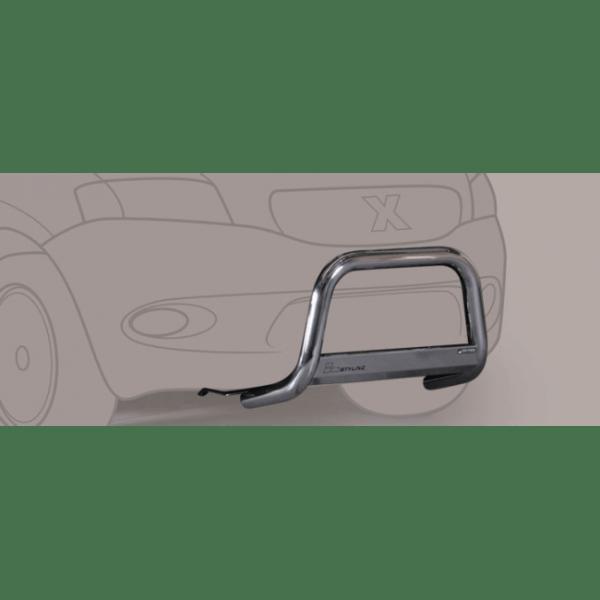 Misutonida Bull Bar Ø63mm inox srebrni za Ford Kuga 2013-2016 s EU certifikatom