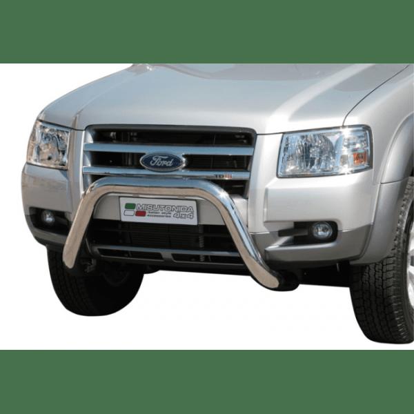 Misutonida Bull Bar Ø76mm inox crni za Ford Ranger 2007-2009 s EU certifikatom