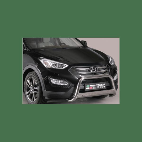 Misutonida Bull Bar Ø63mm inox srebrni za Hyundai Santa Fe 2012+ s EU certifikatom