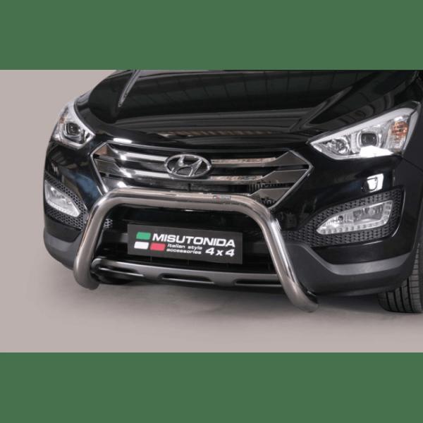 Misutonida Bull Bar Ø76mm inox srebrni za Hyundai Santa Fe 2012+ s EU certifikatom