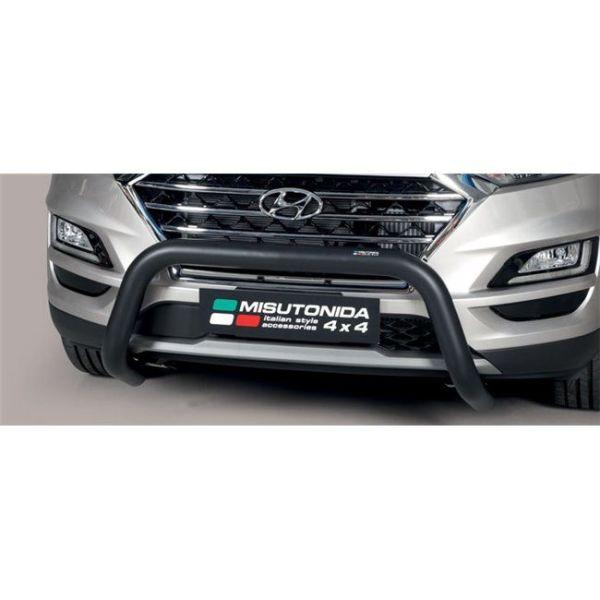Misutonida Bull Bar Ø76mm inox crni za Hyundai Tucson 2018+ s EU certifikatom