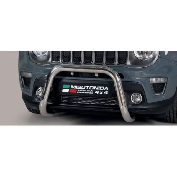 Misutonida Bull Bar Ø76mm inox srebrni za Jeep Renegade 2018-2019 s EU certifikatom
